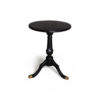 Theo Black Round Wooden Side Table 2