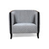 Theo Upholstered with Wooden Frame Armchair 1