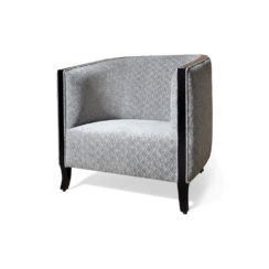 Theo Upholstered with Wooden Frame Armchair Front