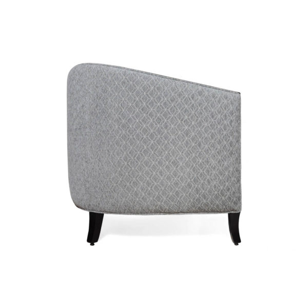 Theo Upholstered with Wooden Frame Armchair Right Side View