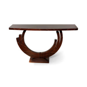 Tobias Brown Curved Console Table