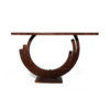 Tobias Brown Curved Console Table 4
