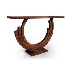 Tobias Brown Curved Console Table Veneer