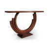 Tobias Brown Curved Console Table 2