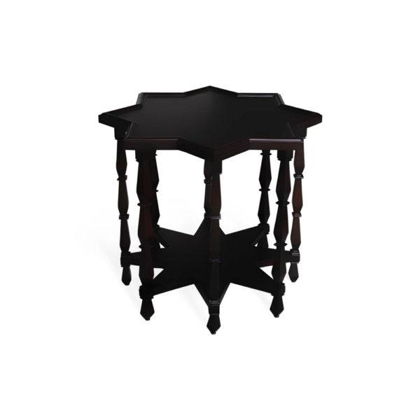 Ulysse Star Black Wooden Side Table