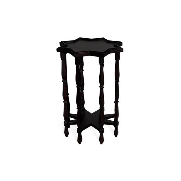 Ulysse Star Black Wooden Side Table Top