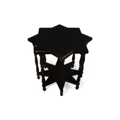 Ulysse Star Black Wooden Side Table Top View