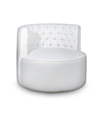 Vincenzo Upholstered Round Button Back Occasional Chair