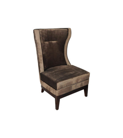 Warwick Chair High Back with Upholstery Luxury Velvet