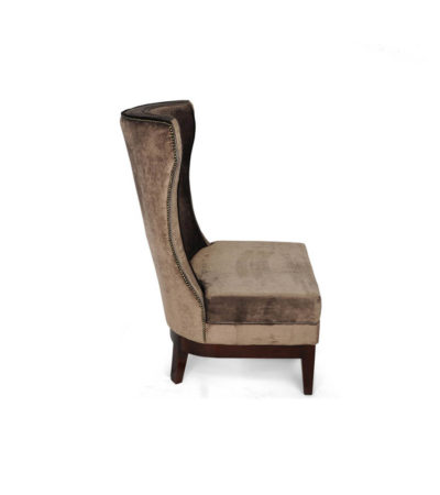 Warwick Chair High Back with Upholstery Luxury Velvet Side