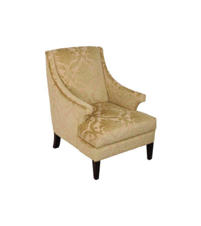 Windsor Upholstered Patterned Armchair Side View