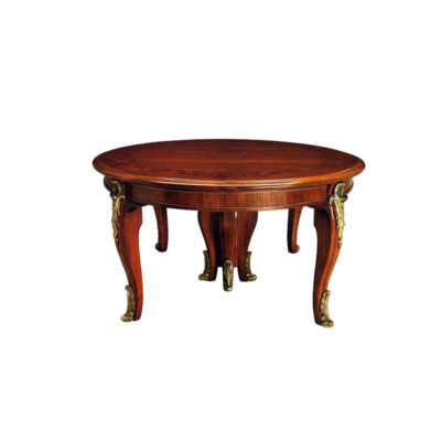 French Round Dining Tables with Copper Ornament