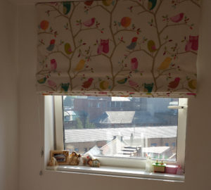 Kids Bedroom Roman Blind