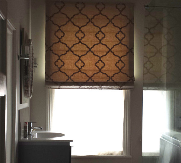 Handmade Bathroom Roman Blind