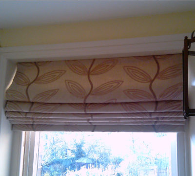 Lined and Interlined Roman Blind