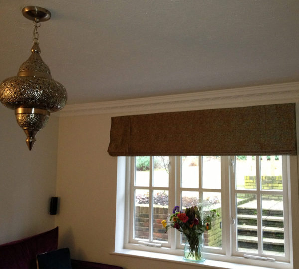 Lounge Handmade Roman Blinds