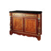 Antique Chest Marble Top with Natural Veneer Inlay 1
