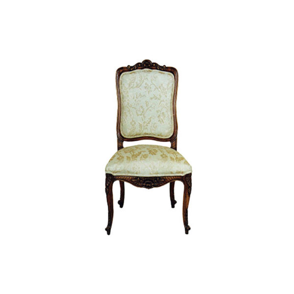 Antique Dining Chair with Luxury Hand Carved Beach Wood