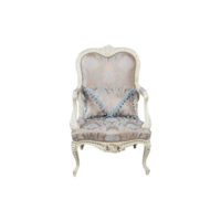 Antique French Style Armchair Hand Carved Wood