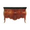 Chest of Drawers with Natural Veneer and Marble Top 1