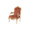 Classic Carved Armchair Upholstery English Red Velvet 1