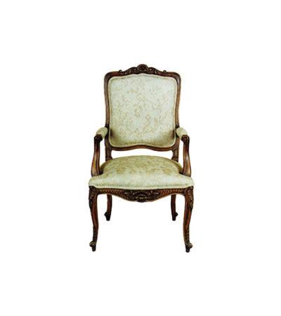Classic Shabby Chic Armchair Upholstery Luxury Fabric