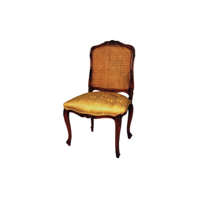 Classic Style Dining Chair with Luxury Handmade Rattan Back
