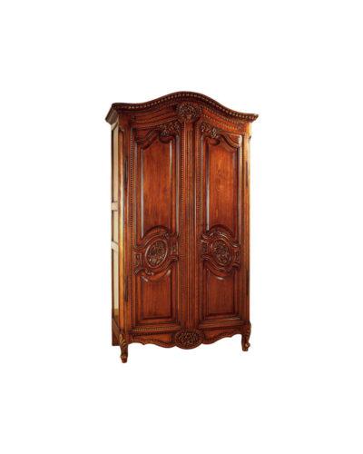 Earnestine Wooden Armoire Wardrobe Hand Carved Wood