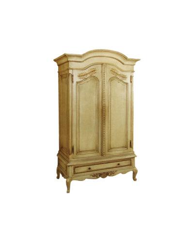 Eartha Wooden Armoire Wardrobe Rococo Ornate
