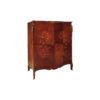 Easdown Wooden Veneered Armoire Wardrobe Brass Ornate 1