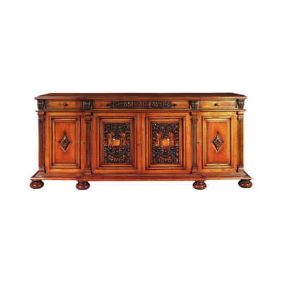 Eastwood Antique Wooden Sideboard with Hand Carved Mirror