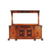 Eastwood Antique Wooden Sideboard with Hand Carved Mirror 2