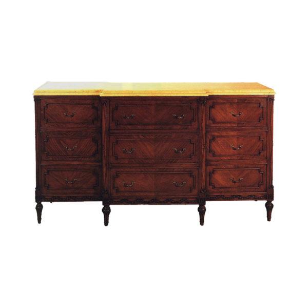 Eaton Antique Buffet with Handmade Wooden Veneer