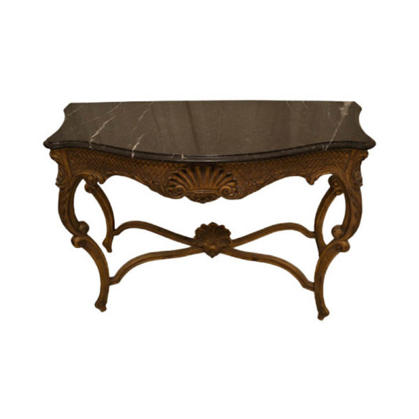 Edmundo French Antique Marble Console Table