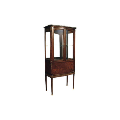 Eilene Antique French Style Display Cabinet with Glass Doors