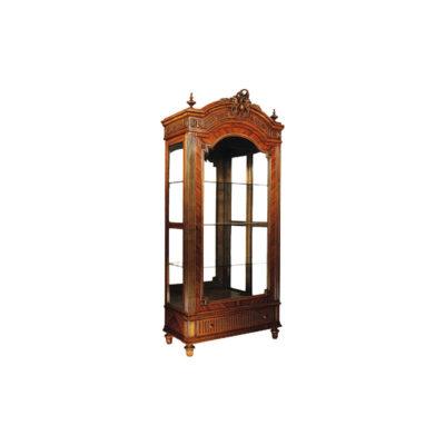 Eilis Antique Wooden Display Cabinet with Glass Door