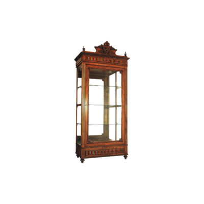 Eimile Antique Hand Carved Wooden Display Cabinets Glasses