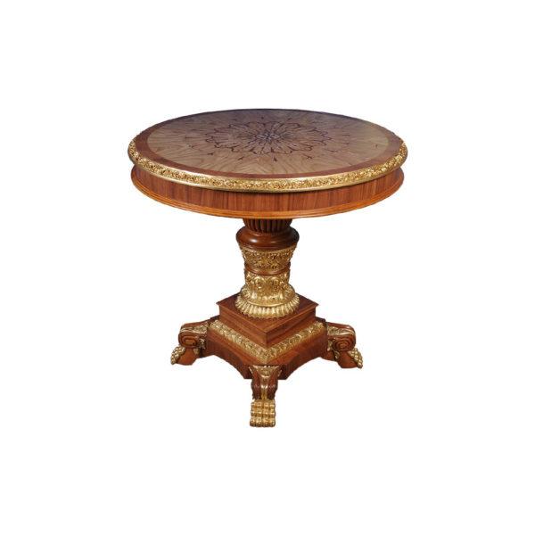 Eldon Elegant French Marquetry Hall Veneered Table