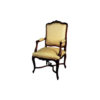Elegant Armchair Hand Carved Detailed Upholstery Luxury Fabric 1