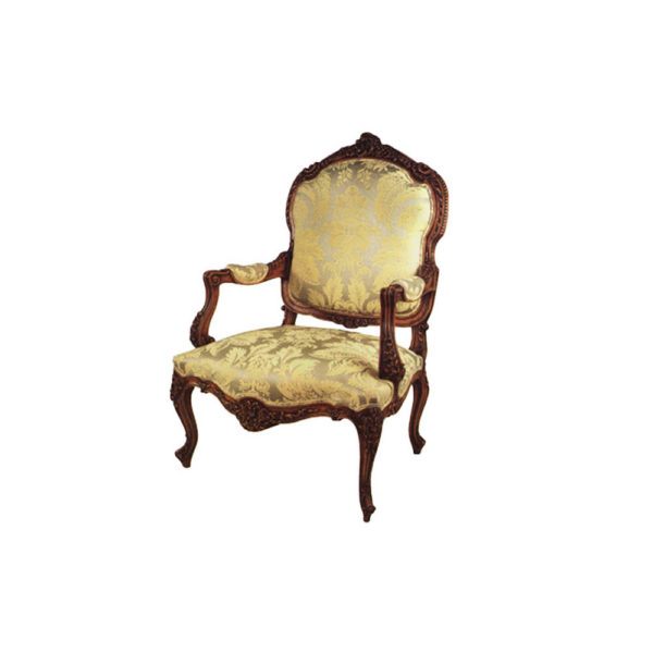 Elegant French Arm Chair with Hand Carved Detailed