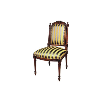 Elegant Upholstered French Style Dining Chair