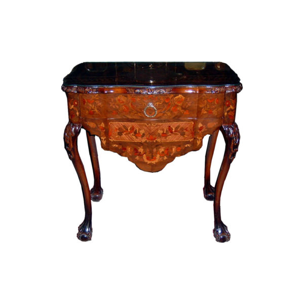 Elise Antique Wooden Chest of Drawers with Marquetry Veneer
