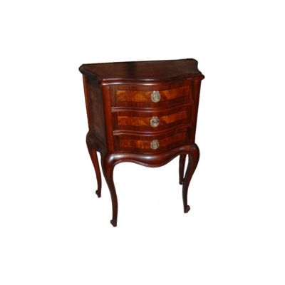 Elka Antique Wooden Chest of Drawers with Marquetry Veneer Inlay