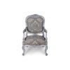 French Antique Style Armchair Detailed Distressed Paint 1