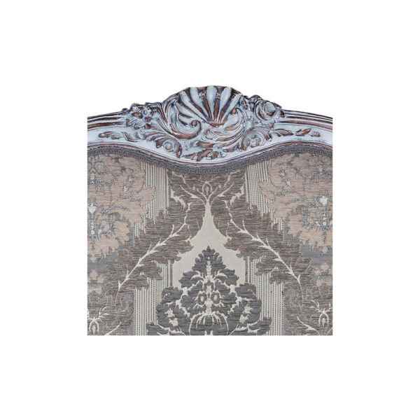 French Antique Style Armchair Detailed Distressed Paint Front