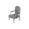 French Antique Style Armchair Detailed Distressed Paint 2