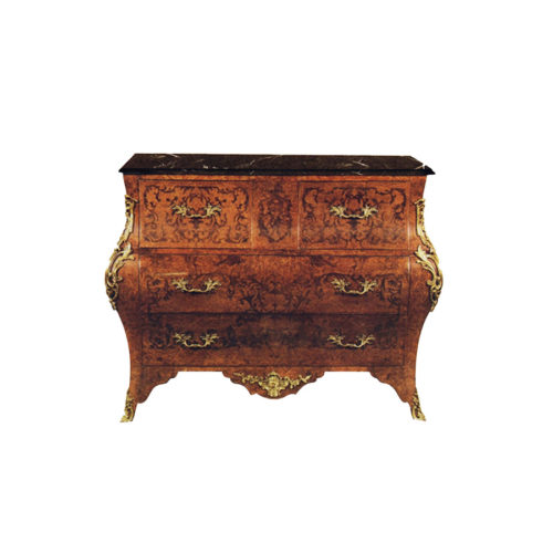 French Chest of 3 Drawers with Brass Ornament