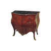 French Chest of Drawers Marble Top with Marquetry Veneer Inlay 1