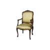French Classic Armchair Hand Carved Detailed Upholstery Luxury Fabric 1
