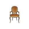 French Style Oval Armchair Desert Velvet Upholstery Fabric 1